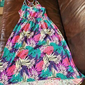 Cat & Jack Floral Print High Low Hem Dress